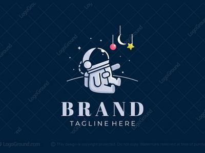 Future Astronaut Logo dreams stars space branding logos logo sience astrology fun activity parenting toddler baby young children kids astronaut