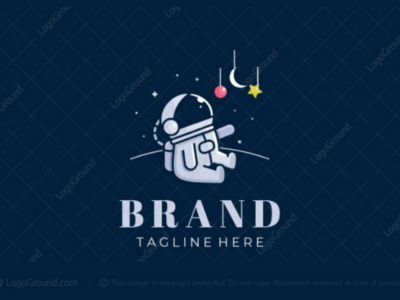 Future Astronaut Logo dreams stars space branding logos logo sience astrology fun activity parenting toddler baby young children kids astronaut