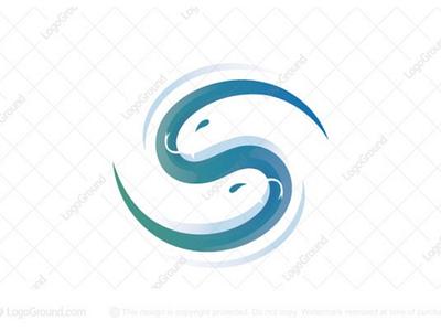 Letter S Snake Logo animal green concept modern brand logos logo space negative gradient calligraphy serpant snake s letter