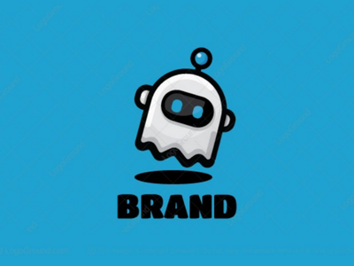 Ghost Bot Logo branding logos logo software internet computer intelligence artificial robot technology cute bot ghost