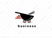 Asian Food Delivery logo for sale