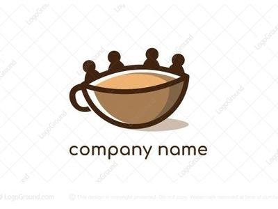 Friends Coffee logo for sale