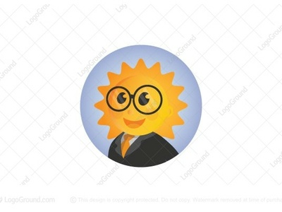 Happy Sun logo for sale