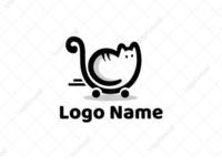 Cat Cart logo for sale
