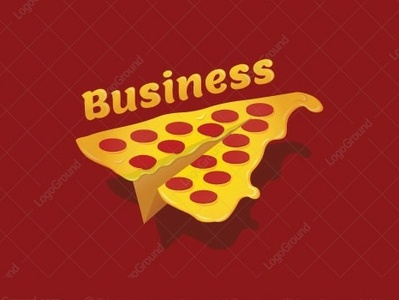 Pizza Paper Plane for sale logo 2d logo restaurant flying fly salami fast food fast pizza place pizza logo food food delivery delivery deliver pepperoni cheese paper airplane paper planes paper plane pizza