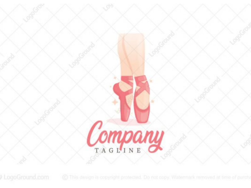 Ballerina logo for sale logo high heel leg cute elegant art dancer dance shoes ballerina ballet