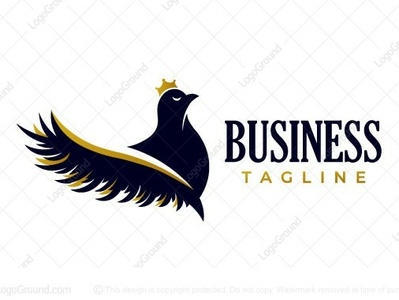 Eyelash bird logo for sale