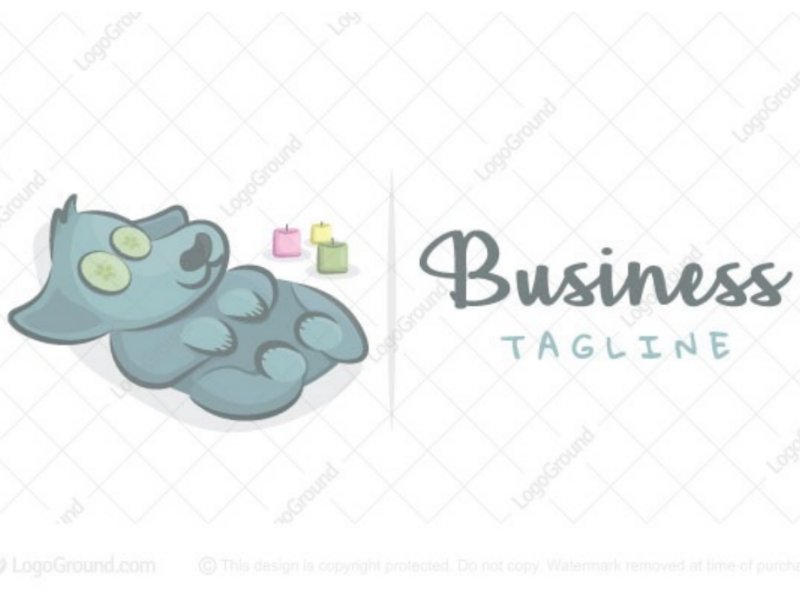 Doggy spa logo for sale logo wellness pet candles relaxation relaxing puppy doggy spa dog