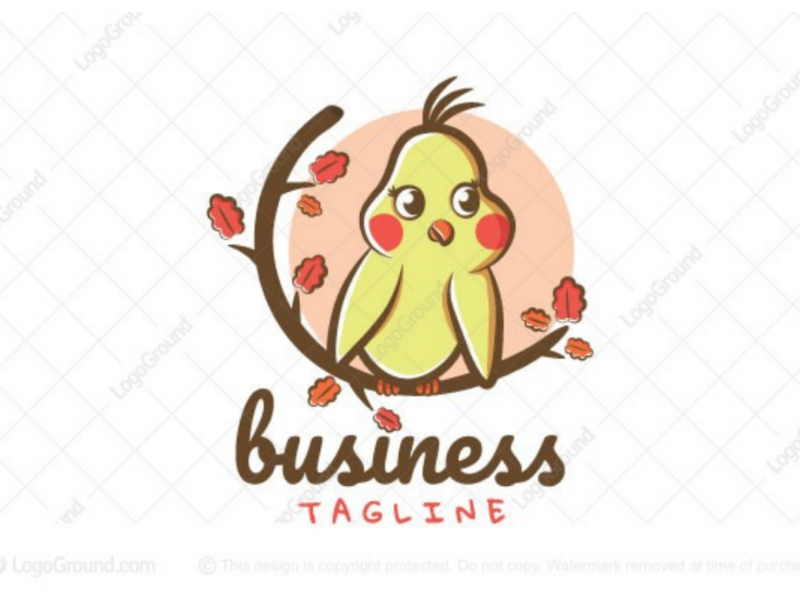 Cute cockatiel logo for sale by mk graphics on Dribbble