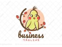 Cute cockatiel logo for sale