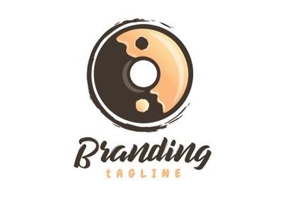 Yin and yang Doughnut t logo for sale glazed vanilla chocolate yin and yang yang yin yang yin donuts donut doughnuts doughnut branding vector design illustration logo design logo 2d logo