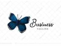 Watercolor butterfly logo for sale