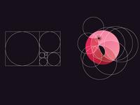 golden ratio flamingo logo for sale