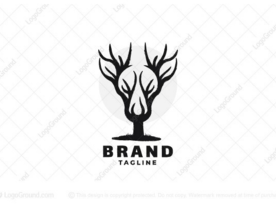 Deer Tree Logo for sale