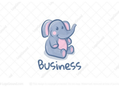 Cute elephant logo for sale