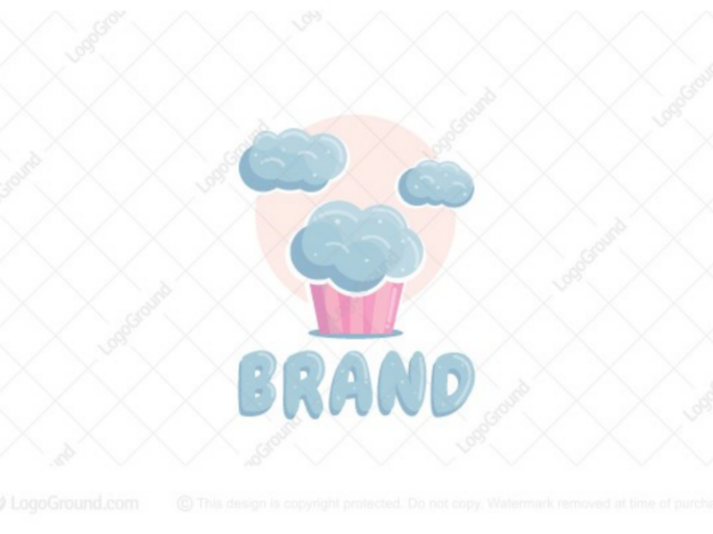 Cloud cupcake logo for sale branding logos logo sky cute pastries pastry chef bake bakery cupcakes cupcake clouds cloud