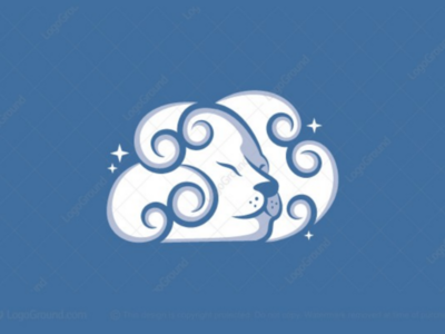 Lion cloud logo for sale