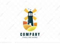 Lighthouse windmill logo