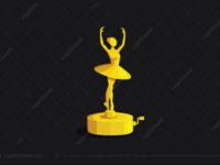 Ballerina music box logo for sale