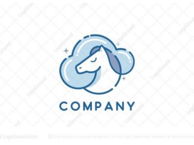 Horse cloud logo for sale