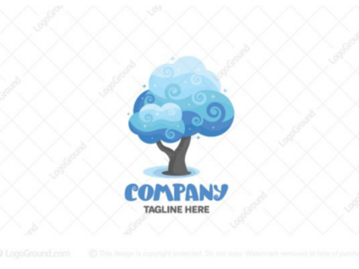 Cloud tree logo for sale
