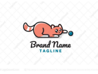 Playful kitty logo for sale