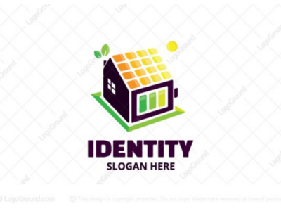 Solar Powered Home Logo for sale