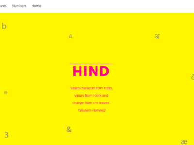 Website on typography