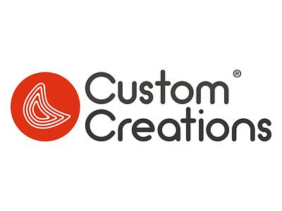 Custom Creations Logo crafts handmade branding illustration logo