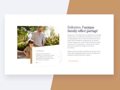 Wealth management homepage section