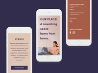 Coworking Space Mobile Website Design