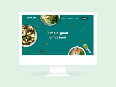 Website design for healthy food delivery service