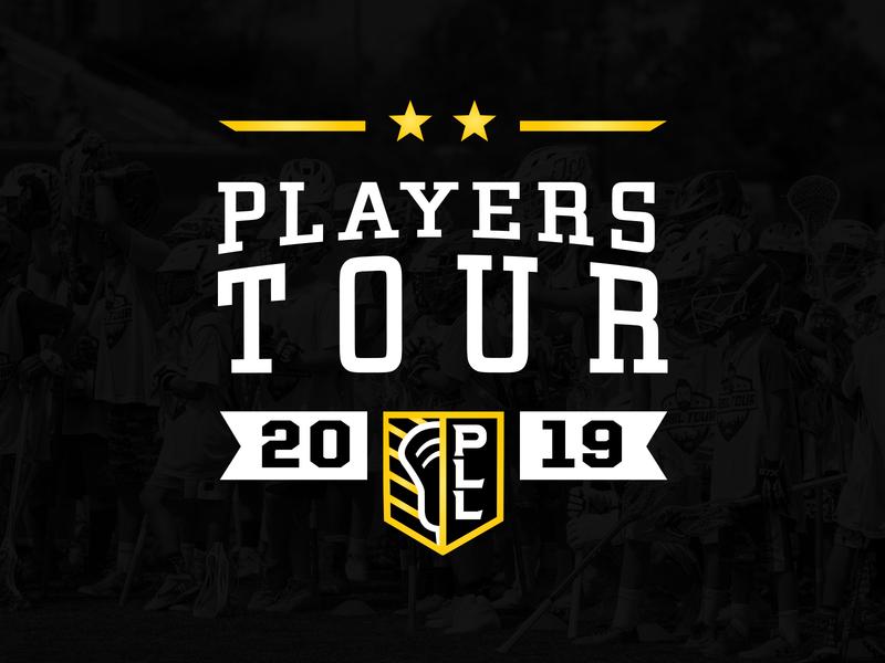 PLL Players Tour Logo branding vector sports lacrosse logo design