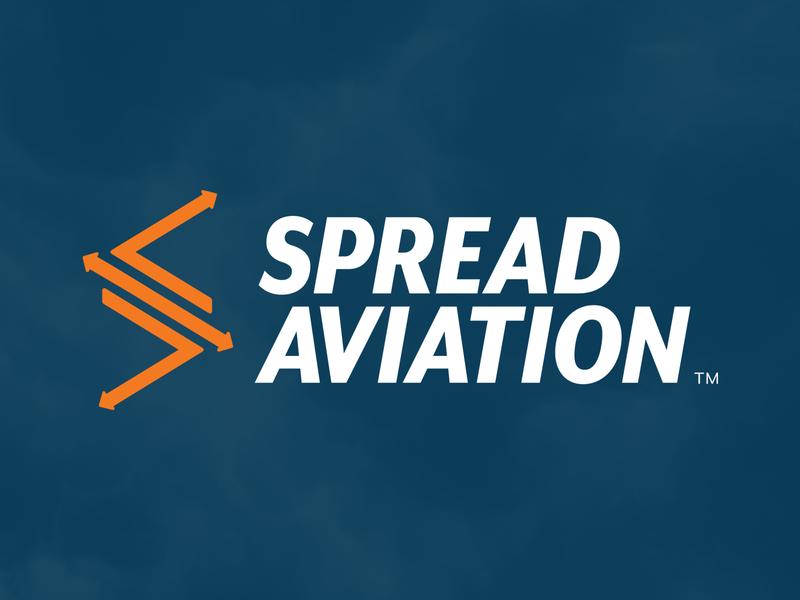 Spread Aviation Logo aviation branding logo design