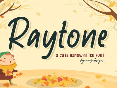 Raytone typography font font design cartoon logotype handwritten kids fun cute