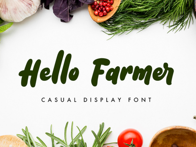 Hello Farmer design typography font font design packaging product logotype branding display bold