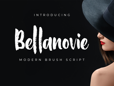 Bellanovie fashion branding script font logotype lettering font font design chalk brush
