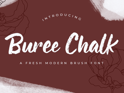 Buree Chalk poster promotion discount fashion chalk textured script logotype lettering branding font font design