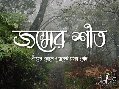 Bangla Typography (জম্মের শীত) tanvir bd snow winter illustration facebook vector lettering calligraphy bengali design bangladesh bangla typography