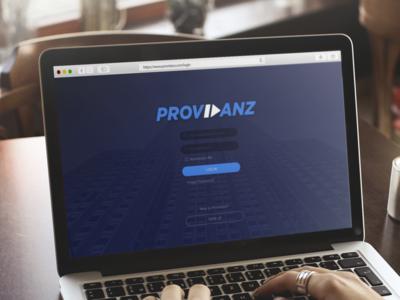 Providanz - Login Page