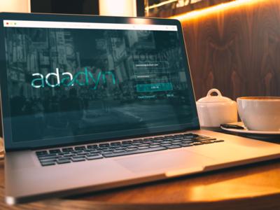 Adadyn - (Web version) - Login Page