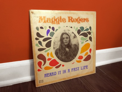 Maggie Rogers, Heard it in a Past Life (1967) photoshop art photoshop music retro vintage album record vinyl record vinyl 70s 60s seventies sixties typography art typographic typeface type typography design illustration