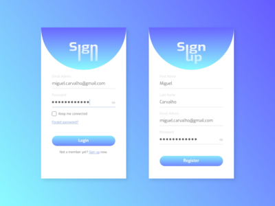 Daily UI Challenge - Sign-up page
