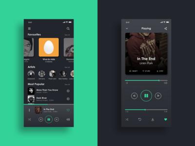Daily UI Challenge - Music Player App