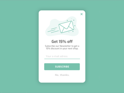 Daily UI Challenge - Newsletter Signup Form