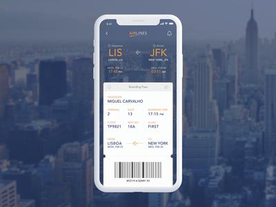 Daily UI Challenge - Boarding Pass