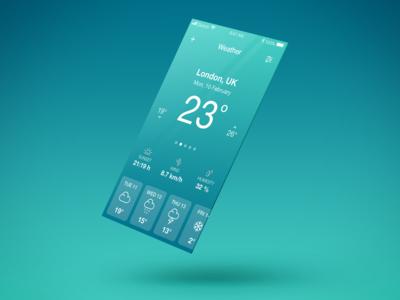 Daily UI Challenge - Weather App
