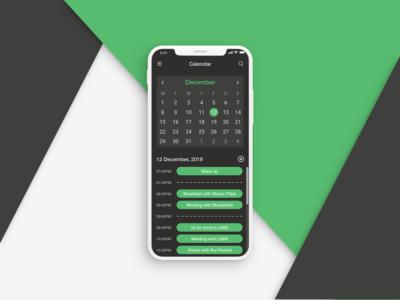 Daily UI Challenge - Calendar App