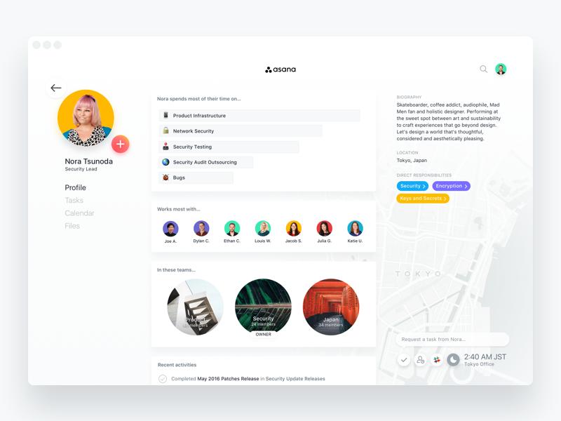 Dribbble user profile