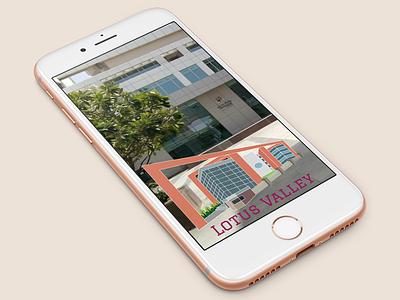Snapchat Geofilter - Lotus Valley iphone mockup gurgaon architechture snapchat filter illustration school geofilter snapchat
